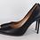 Thumbnail: Black ΔΣΘ Genuine leather Debossed heel