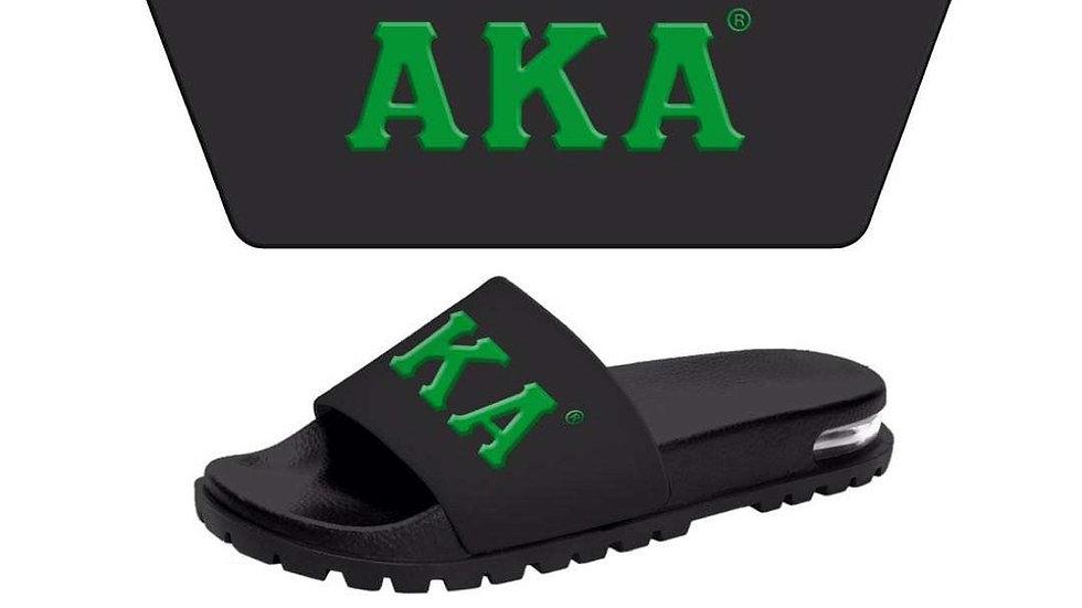 AKA 3-D Black/Green slides-Ships in 45 Days