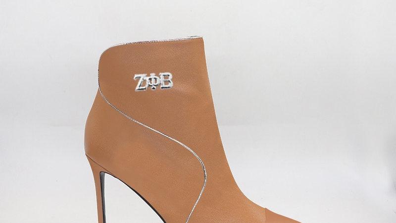 ΖΦΒ Cappuccino Genuine  Leather 4in Boots