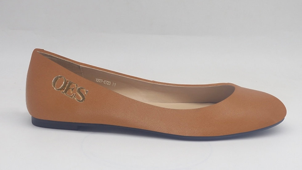 OES Cappuccino Genuine Leather flats