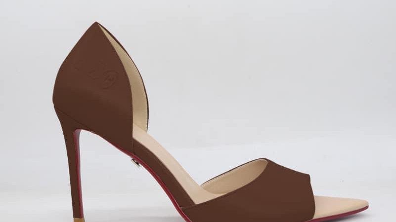 ΔΣΘ Mocha Genuine Leather Heels
