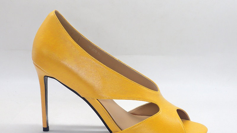 Yellow Genuine Leather 4in heels