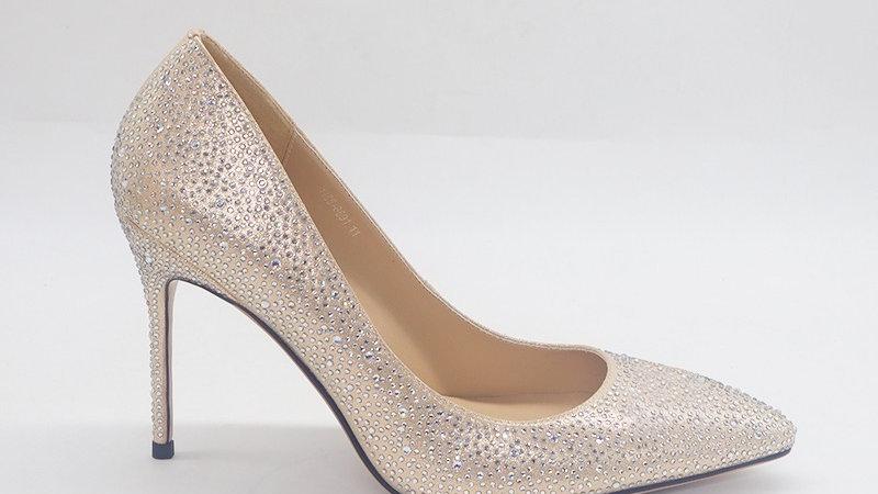 Champagne Rhinestone Heels
