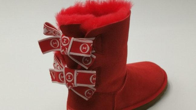 ΔΣΘ  Sheep Wool Boots w/2 ribbons SHIPS IN 45 DAYS