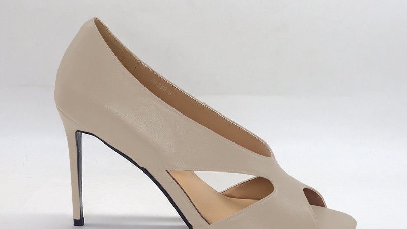 Light Gray Genuine Leather 4in heels
