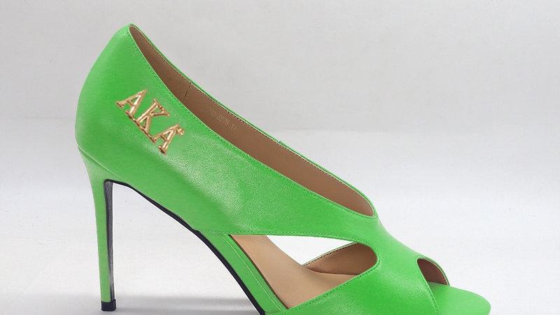 AKA Green Genuine Leather 4in heels
