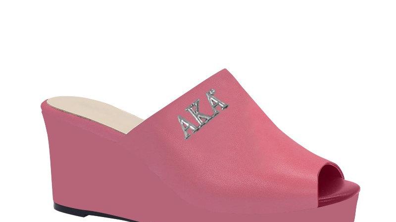 AKA Pink Genuine Leather Wedges