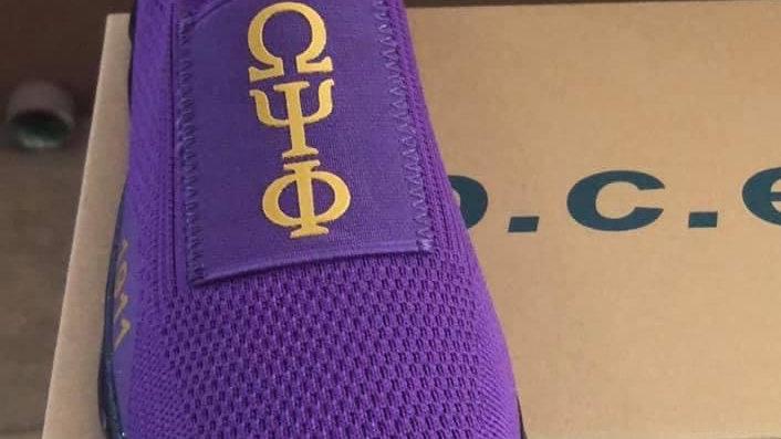 ΩΨΦ purple athletic shoes -Ships November 29th