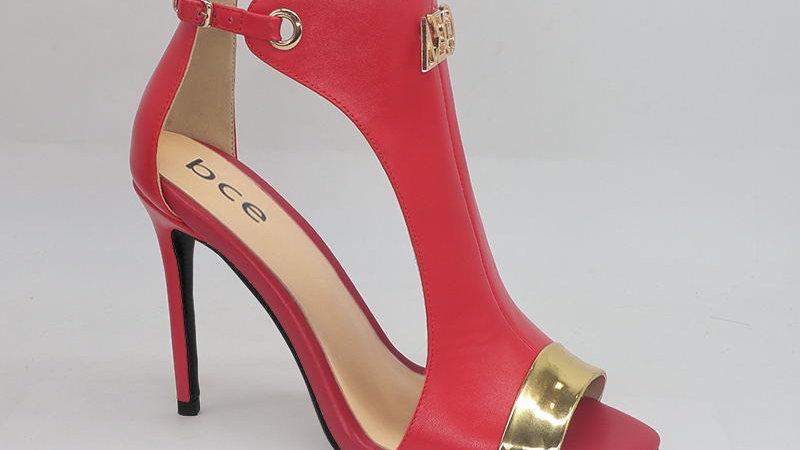 ΔΣΘ Genuine Leather and Metallic Leather heels