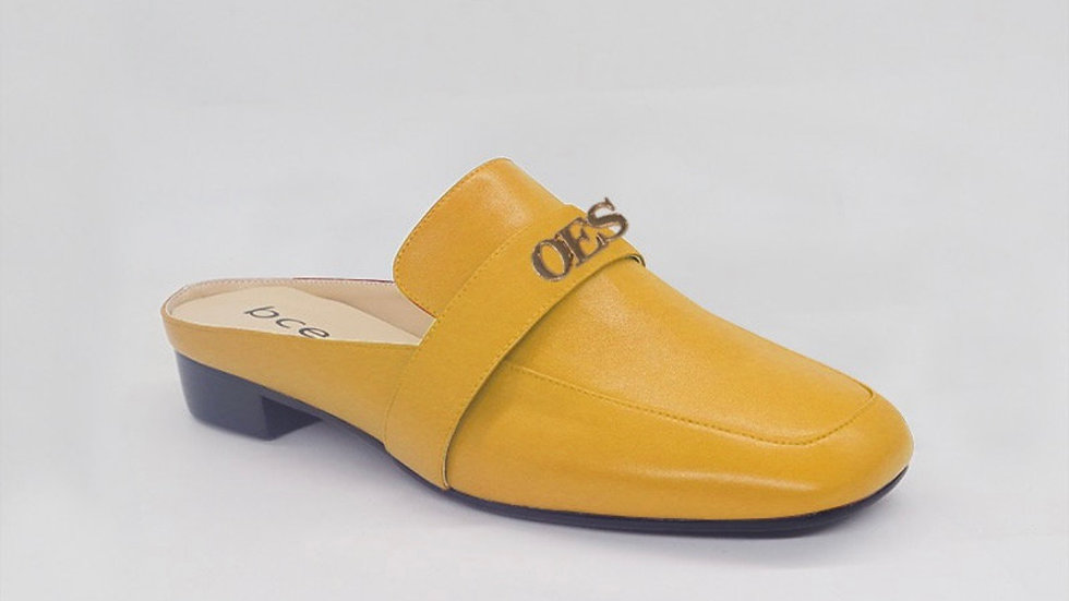 OES Yellow Genuine Leather flats