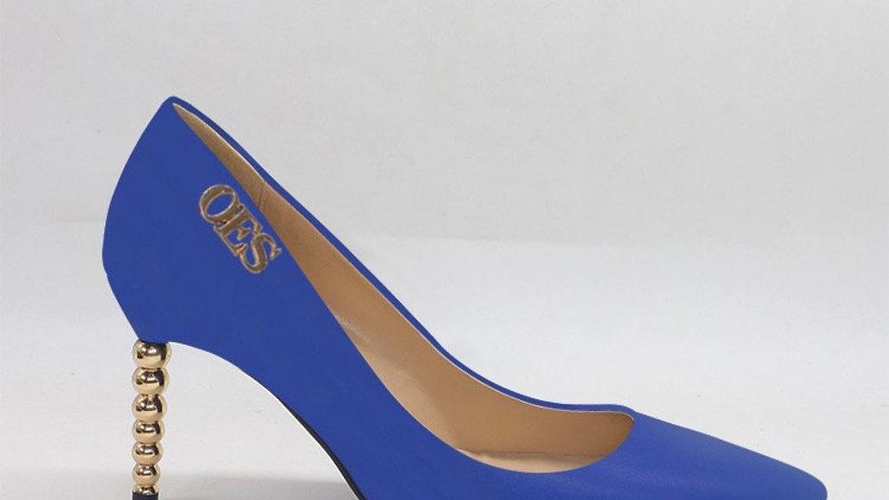 OES Blue Genuine Leather heels