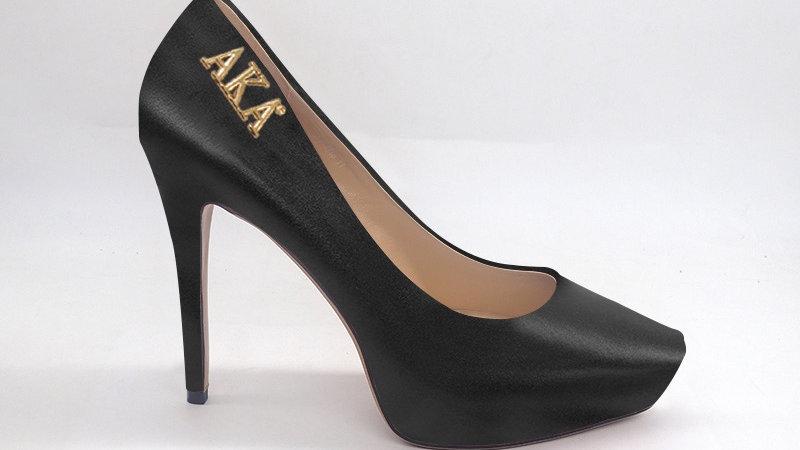 AKA Black Genuine Leather Platform 4in Heel