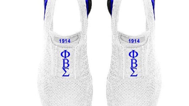 ΦΒΣ White/Blue Athletic shoes
