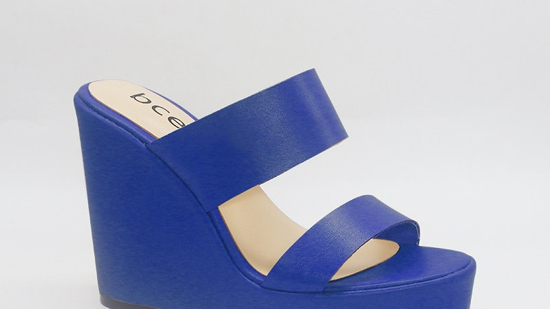 Blue Genuine Leather 5in Wedges