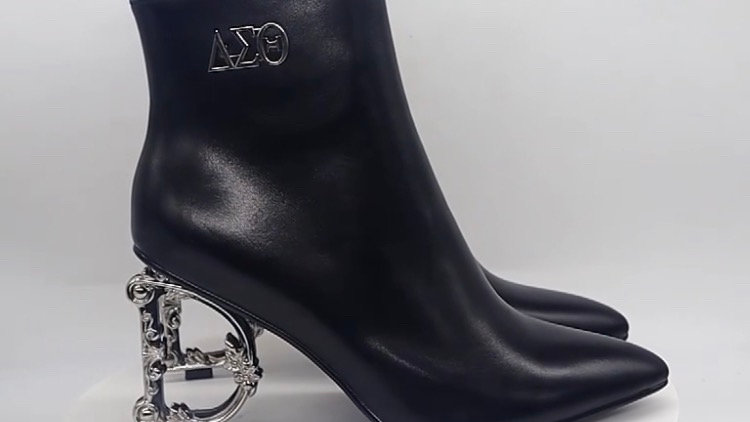 ΔΣΘ Genuine Leather 4in Boots with D heel