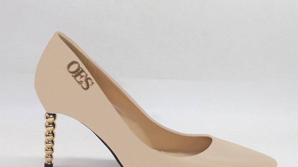 OES Beige Genuine Leather heels