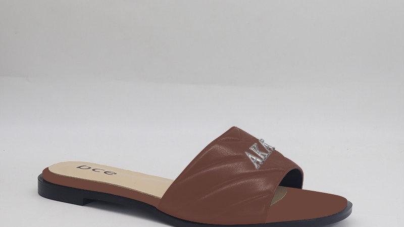 AKA Mocha Genuine Leather Sandals