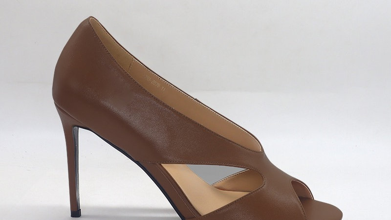Mocha Genuine Leather 4in heels