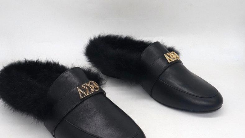 ΔΣΘ genuine leather flats