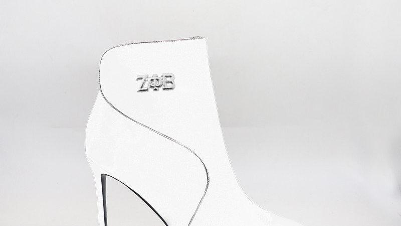 ΖΦΒ White Genuine  Leather 4in Boots