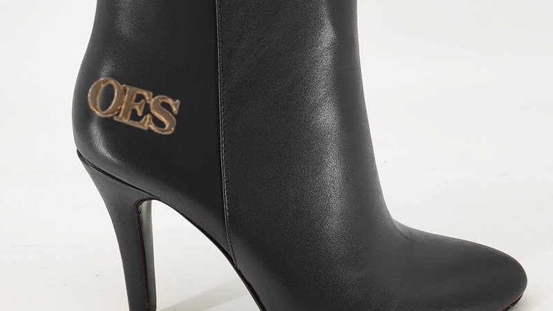 OES Black Genuine Leather 4in Boots
