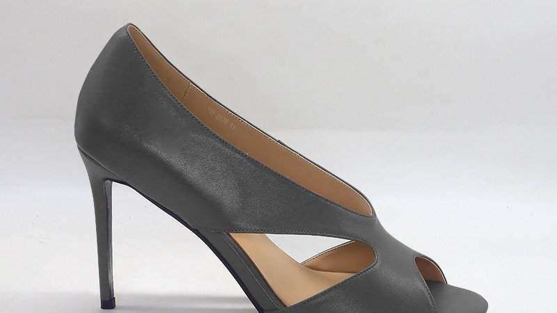 Gray Genuine Leather 4in heels