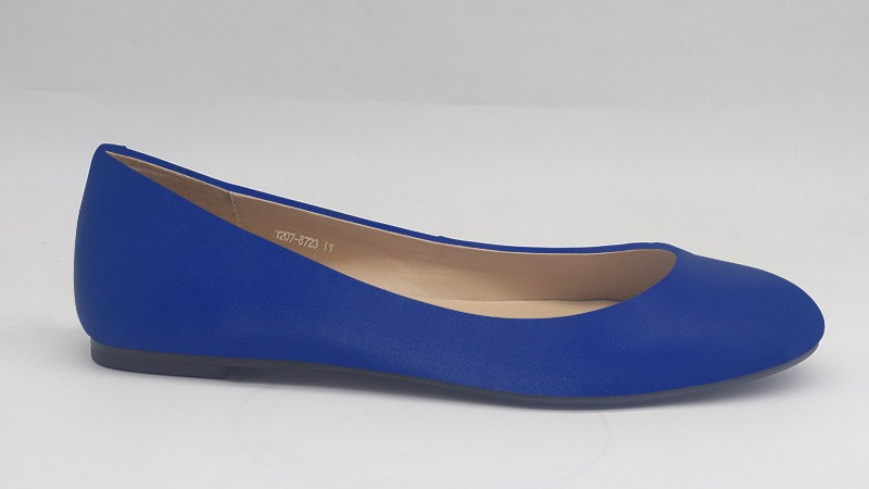 Royal Blue  Genuine Leather Flats