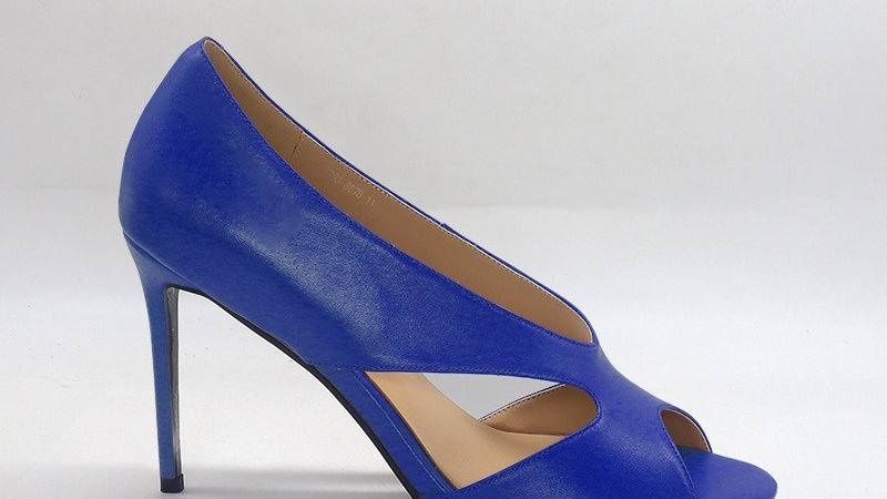 Blue Genuine Leather 4in heels