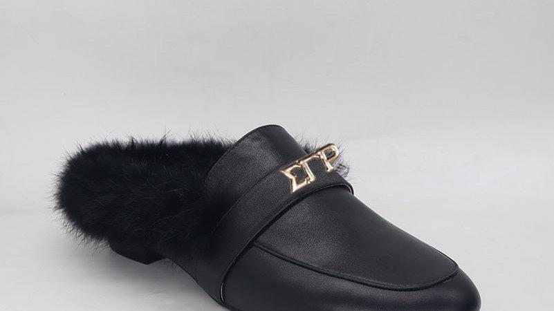 ΣΓΡ genuine leather flats