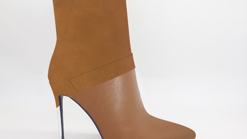 Brown Suede/Genuine Leather 4in Boots
