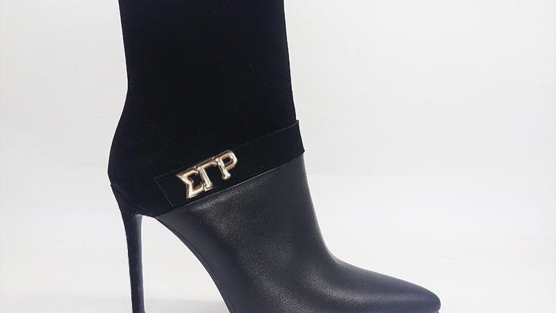 ΣΓΡ Black Suede/Genuine Leather 4in Boots