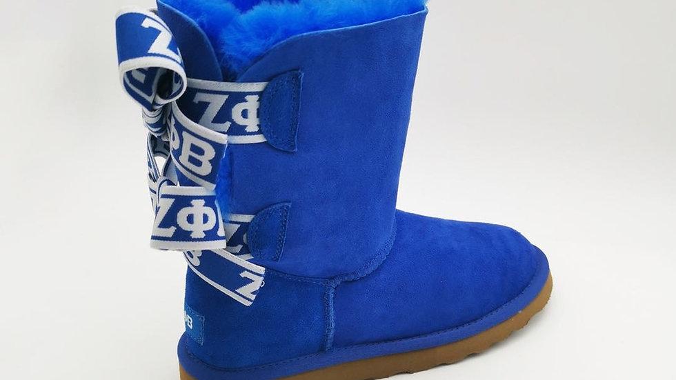 ΖΦΒ  Sheep Wool Boots w/2 ribbons  SHIPS NOVEMBER 10th