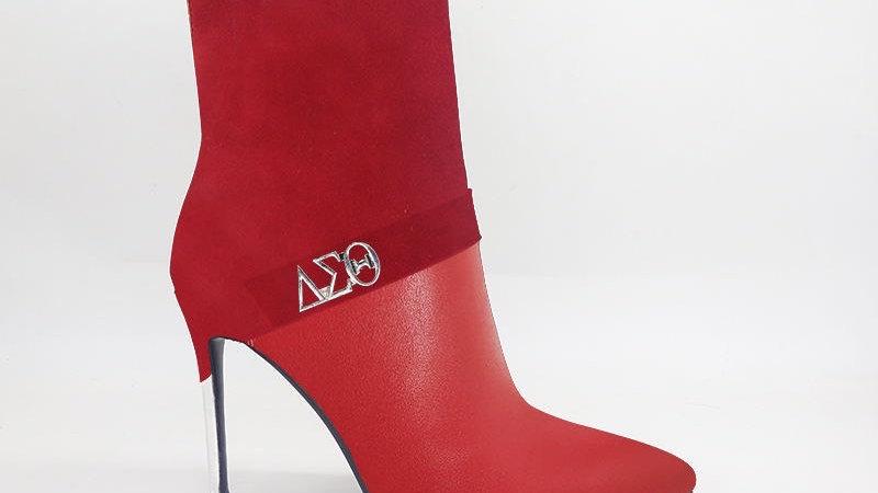ΔΣΘ Red Suede/Genuine Leather 4in Boots