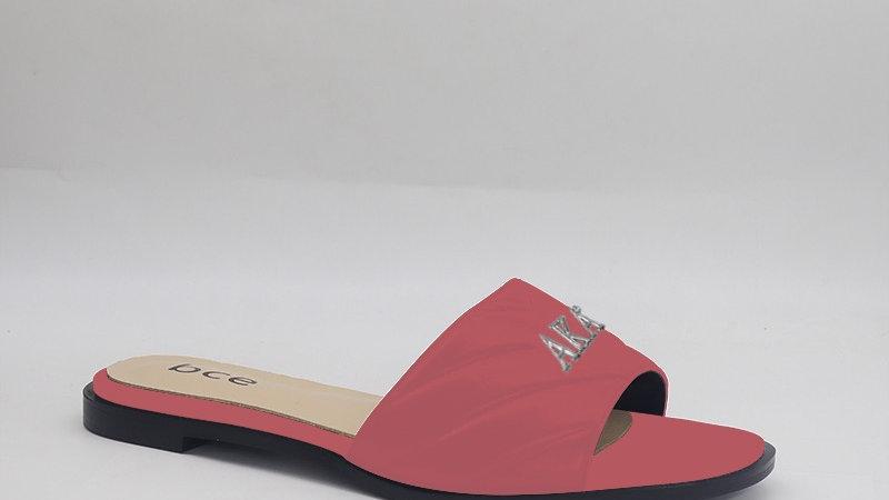 AKA Pink Genuine Leather Sandals