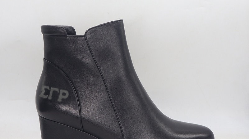 SGRho Genuine leather wedge boots