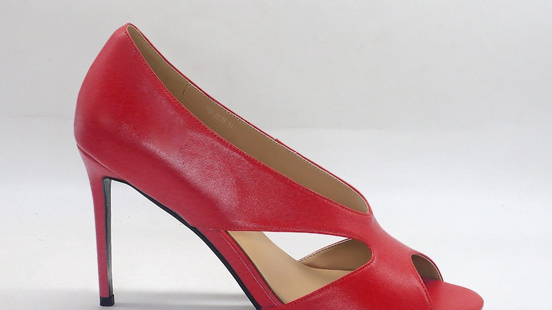 Red Genuine Leather 4in heels
