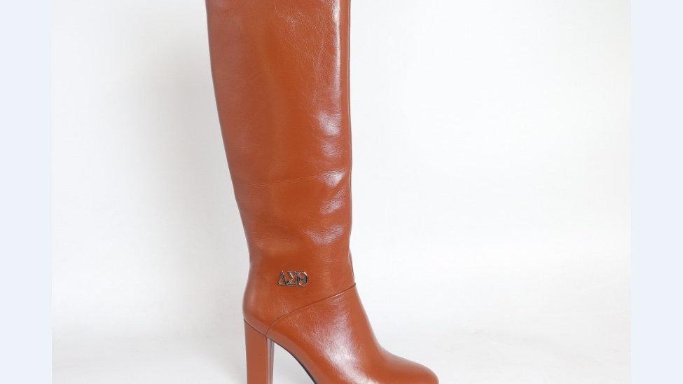 ΔΣΘ Brown Genuine  Leather 4in Boots