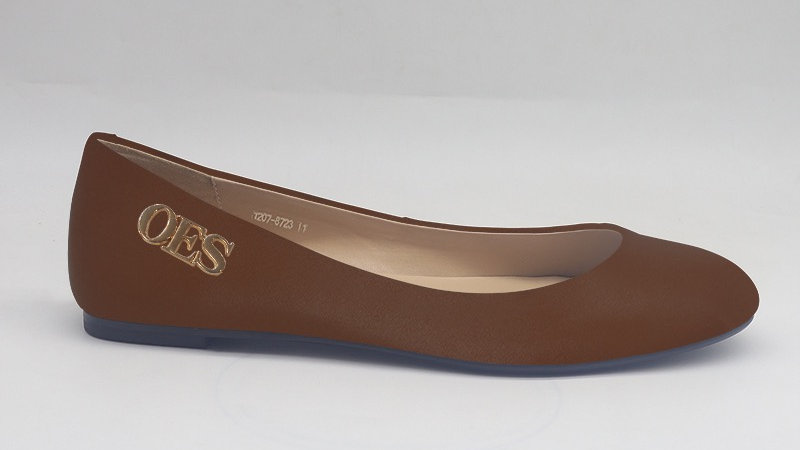 OES Brown Genuine Leather flats