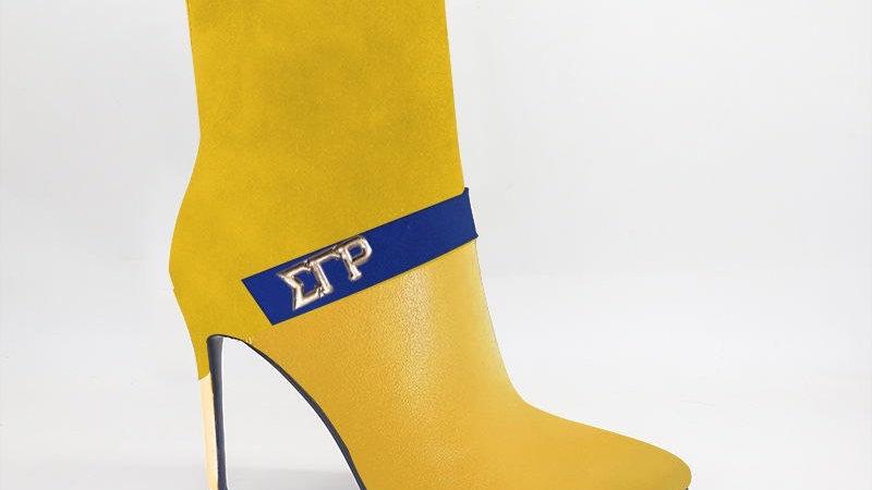 ΣΓΡ Yellow Suede/Genuine Leather 4in Boots