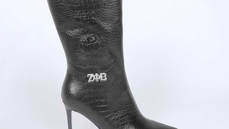 ΖΦΒ Black Genuine  Leather Boots Ships December 20th