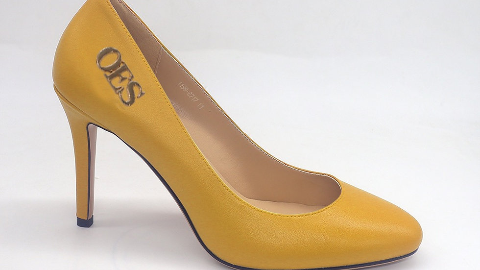 OES Yellow Genuine Leather heels