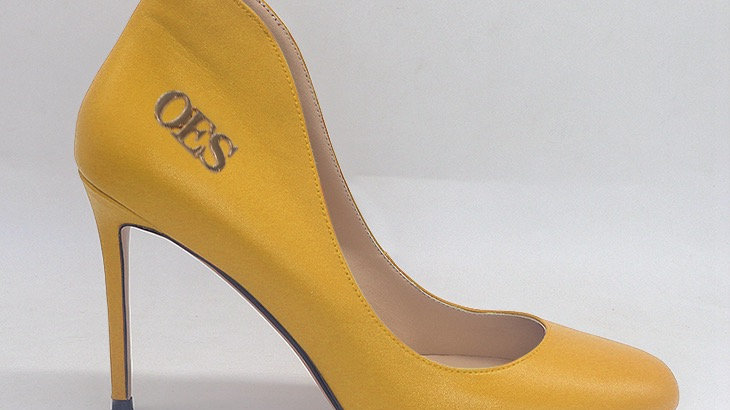 OES Yellow Genuine Leather 4in heels