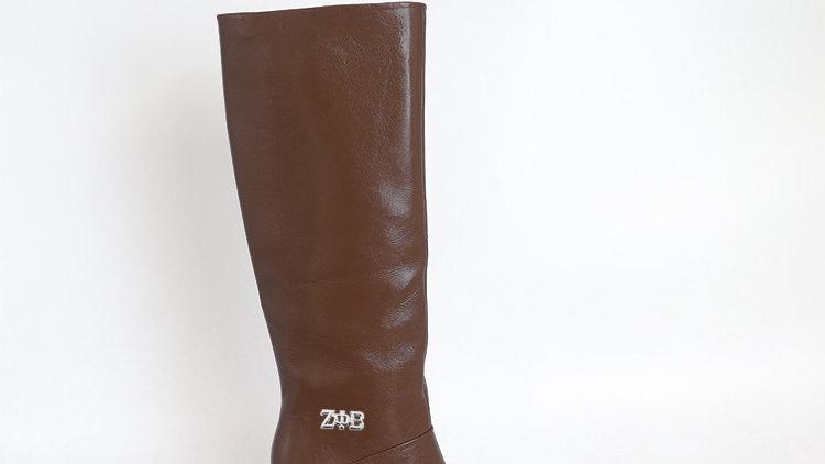 ΖΦΒ Mocha Genuine Leather 4in Boots