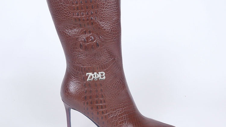 ΖΦΒ Brown Genuine Leather Boots Ships December 20th