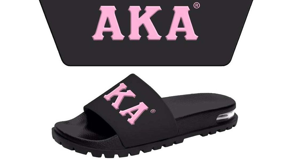 AKA 3-D Black/Pink slides-SHIPS in 45 Days