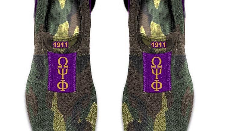 ΩΨΦ Camo athletic shoes -Ships November 29th