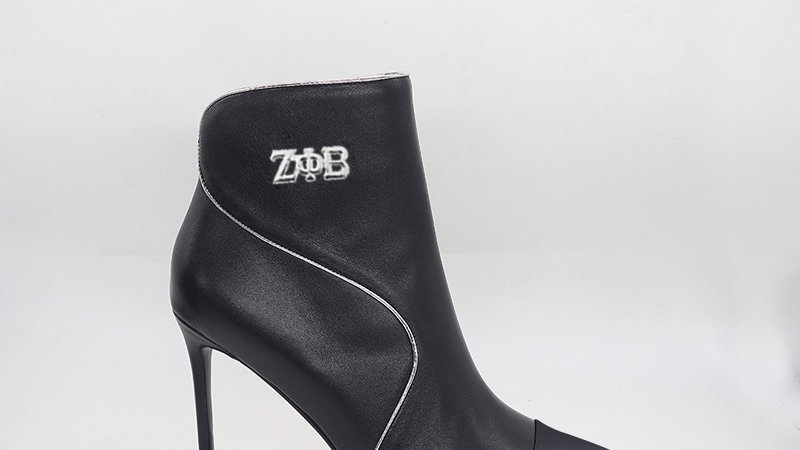 ΖΦΒ Black Genuine  Leather 4in Boots