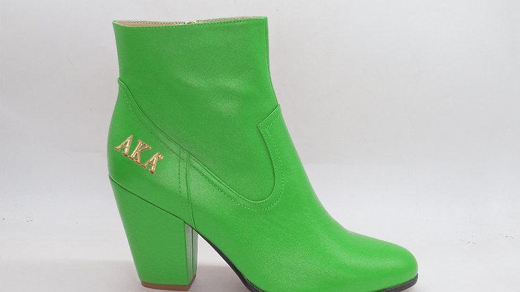 AKA Green Genuine Leather Boots