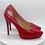 Thumbnail: Red Croco Pattern Platform Heels w/ silver ΔΣΘ buckle