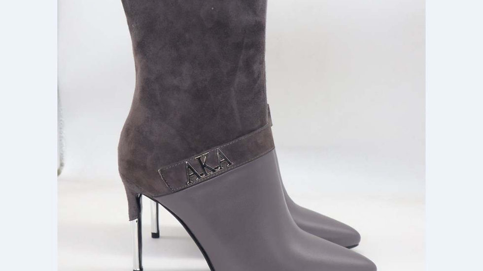 AKA Gray Suede/Genuine Leather 4in Boots
